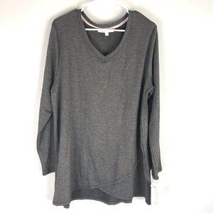NWT Piper & Taylor knit tunic long sleeve grey
